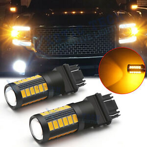 3157 Led Front Turn Signal Corner Blinker Light Bulb For Gmc Sierra Yukon Savana