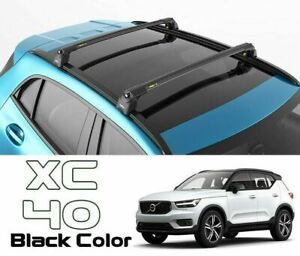 For Volvo Xc40 Roof Rack Bars For Vehicles With Raised Roof Rails Black