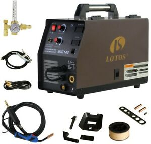 Wire Feed Welder 140 Amp Mig Torch Ground Clamp Cable Gas Hose Argon Regulator