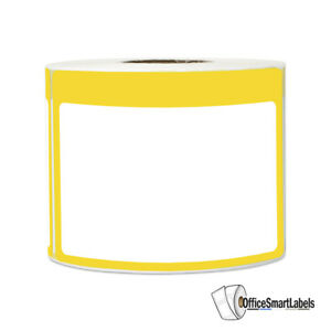 Yellow Name Tag Stickers Write on Surface Introduction Labels 3 5 x2 25 5pk