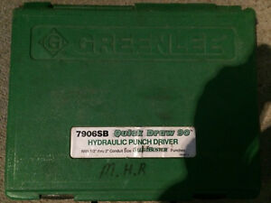 Greenlee 7906sb Hydraulic Punch Driver With Case