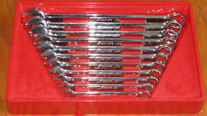 Snap On Tools Usa Soex711 11 Piece Sae Flank Drive Plus Wrench Set Open box End