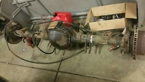 1999 Ford F 350 4x4 Rear End gears complete Disc Brakes Axles Rattrod E Brake
