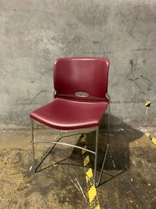 39 Hon Olson High density Stacking Chairs With Cart Mulberry