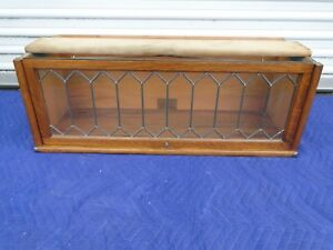 Globe Wernicke Oak Leaded Glass Barrister Bookcase Section D 10 1 4 110 298 1 2