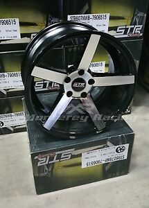 18x8 5 Str 607 Black Machine Face 5x112 Made For Audi Volkswagon Mercedes