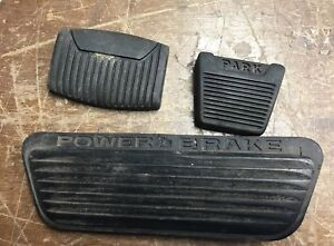 Vintage Chrysler Imperial Pedal Cover Rubber Pads Oem