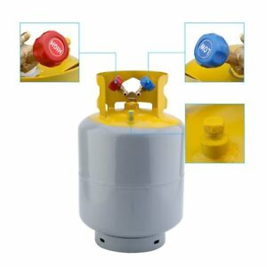 Portable 50lb Refrigerant Recovery Cylinder Tank 400 Psi Steel Reusable Vp