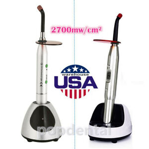 Usps Dental Wireless Led Curing Light 2700mw c Silver Ys c jas 2001b Sale