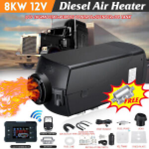 12v 8kw Diesel Air Heater 10l Tank Lcd Thermostat For Truck Boat Car Bus Trailer