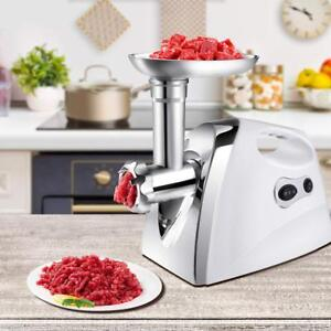 Electric Meat Grinder Kitchen Food Sausage Mincer 2 Speed 4blades 2500w White Ek