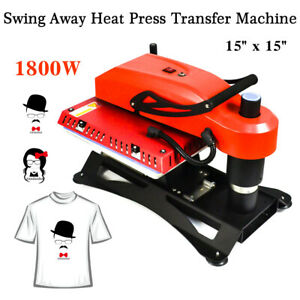 15 x 15 Swing Away Manual T shirt Heat Press Machine Sublimation Heat Transfer