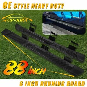 6 For 2015 2020 Ford F150 Super Crew Cab Running Board Nerf Bar Side Step V Blk