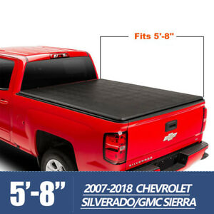 Tri Fold Short Bed 5 8 Tonneau Cover 2007 2018 For Chevy Silverado Gmc Sierra