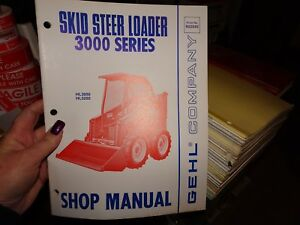 Gehl Hl 3000 Hl 3200 Skid Steer Loader Shop Manual Book New