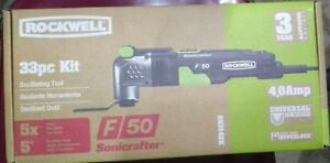New Rockwell F30 Sonicrafter 32 Piece Oscillating Tool Kit W Case Rk5132k