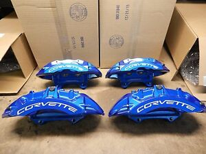 Full Set Zr1 Blue Corvette Calipers 09 13 Corvette 25923821 22 32 33 Brembo