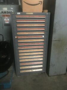 16 Drawer Stanley Vidmar Heavy Duty Cabinet