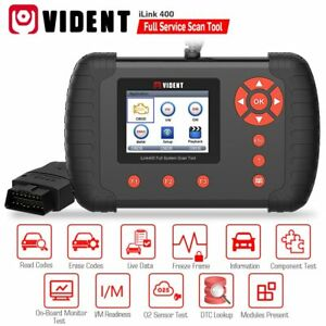 Vident Ilink400 Full System Diagnostic Tool Obd2 Code Reader Scanner Oil Reset