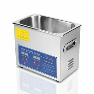 Happybuy Ultrasonic Cleaner 3l Large Commercial Ultrasonic Cleaner Stainless
