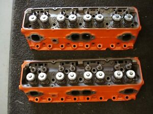 3927186 Date F 1 30 Set Of Factory Heads 1970 Lt1 Z 28 202160 350 Unported Chevy