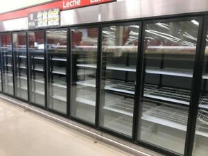 23 X 19 X 10 9 Glass Door Walk In Cooler Or Freezer Wit Blower