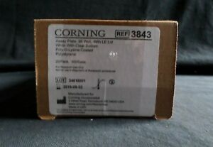20 Corning 96 well Ps Poly d lysine Assay Plate With Lid 3843