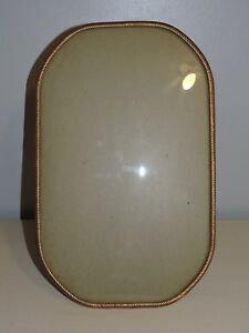 Antique Photo Frame Convex Glass Gold Plated Embossed Large