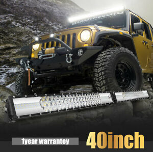 Amber white 42 Inch 960w Curved Led Work Light Bar Combo Fit For Ford Jeep Atv