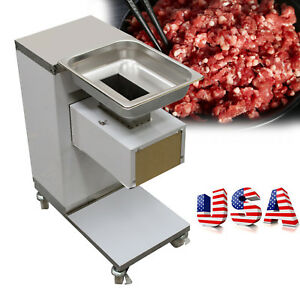 Us Stock 3mm Stainless Commercial Meat Slicer Meat Cutting Machine Cutter 110v