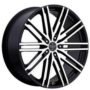 24 Versante Wheels Ve227 Black Machined Rims Fs