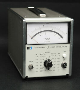 Hp Keysight 3400a Analog Rms Voltmeter 1mv 300v Full Scale Solid State Version
