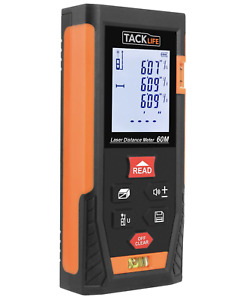 Tacklife Hd60 Classic Laser Measure 196 Feet M in ft Portable Laser Distance Met