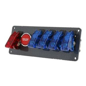 Pas 12v Racing Car Switch Panel With Ignition Toggle Red blue Led On off Button