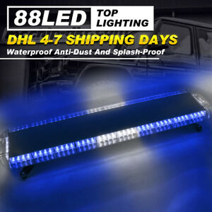 47 88 Led Emergency Warn Windshield Roof Top Truck Response Strobe Light Bar