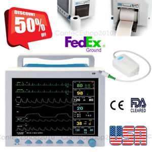 Multi parameter Icu Vital Signs Patient Monitor Portable Thermal Printer Etco2
