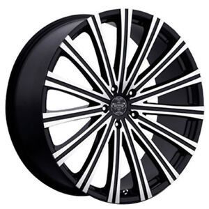 24 Versante Wheels Ve230 Black Machined Rims Fs