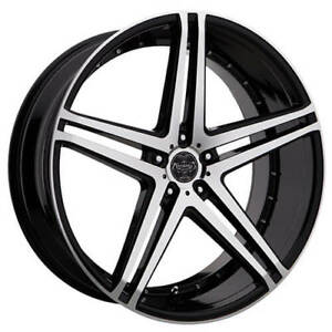 24 Versante Wheels Ve233 Black Machined Rims Fs