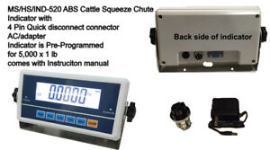 Livestock Hs 520 Ms ind 520 Scale Indicator for Vet hog dog sheep goat pig Scale