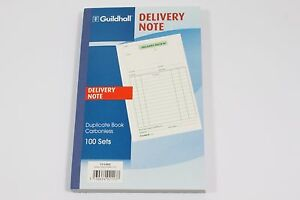 Guildhall 100 Set Duplicate Carbonless Delivery Note Books Pre printed Paper