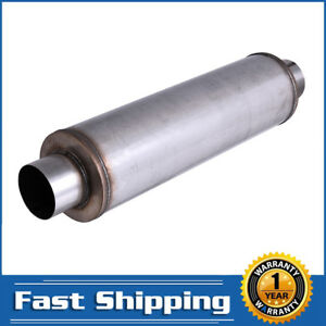 1pcs 4 Inlet Outlet Stainless Steel Performance Diesel Muffler 24 Body Long Us