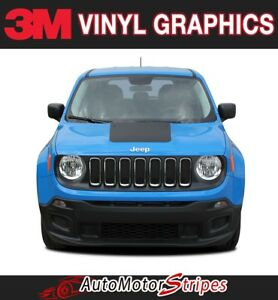 2014 2019 Jeep Renegade Hood Decal Trailhawk Blackout Vinyl Graphic 3m Stripes