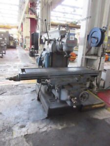 15 X 63 Table Cincinnati 3 Horizontal Milling Machine W Vertical Head 10 Hp