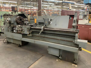 20 Swing X 78 Center Lodge Shipley Engine Lathe Dro Steady Rest 3 Jaw Chuck