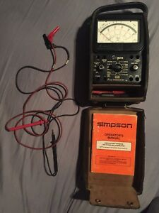 Simpson 260 Series 8 Multimeter W Hard Case Manual Leads