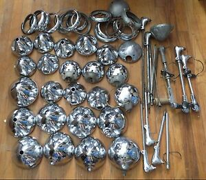 Large Lot Of Vintage Utility Spot Lights Lamps Handles Ford Chevy Gm Police