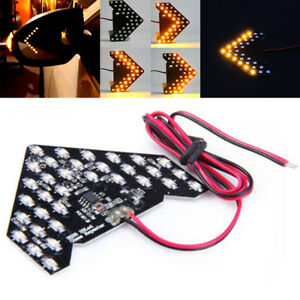 33 Smd 12v Sequential Led Arrows Panel For Car Side Mirror Turn Signal Light Vc