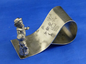 Tufts Quadruple Plate 1667 Figural Napkin Ring Jack And Jill Go Up The Hill