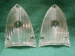 1955 1956 Ford Back Up Light Lenses Pair New Mainline Customline