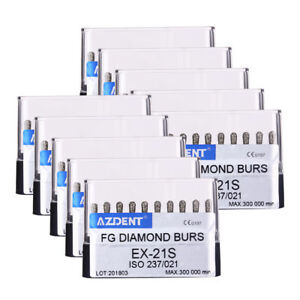 100 Kits Diamond Burs Ex 21s Dental Cavity Occlusion Preparation Fg Handpiece